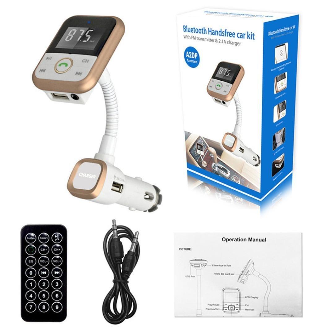 Welcomeuni LCD Car Bluetooth MP3 Player SD USB Remote FM ...