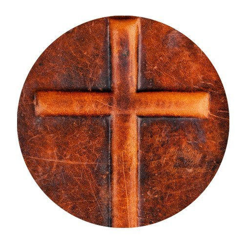 MKHERT Wooden Cross Holy Cross Round Mousepad Mat For Mouse Mice Size 7.87x7.87 inches