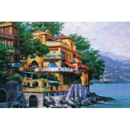 Portofino Villa Poster Print by Howard Behrens - Howard Behrens Villa