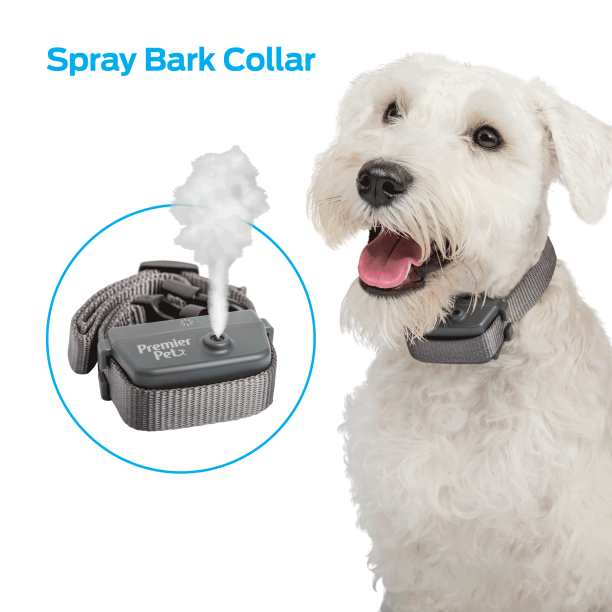 Premier Pet Spray Bark Collar- Gentle Non-Static Anti-Bark Collar that is Easy To Use