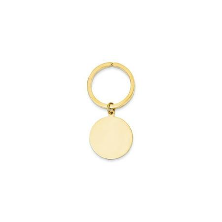 14K Yellow Gold Round High Polished Disc Key (High Key Gold)