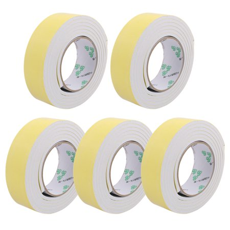 - 5Pcs 40mm Width 5mm Thickness EVA Single Side Sponge Foam Tape 2 Meters Length
