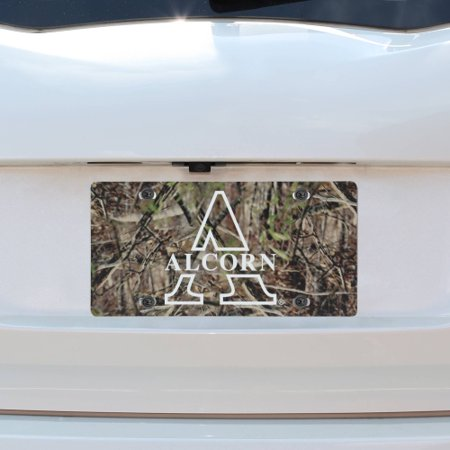 Alcorn State Braves Plastic License Plate - Camo - No Size