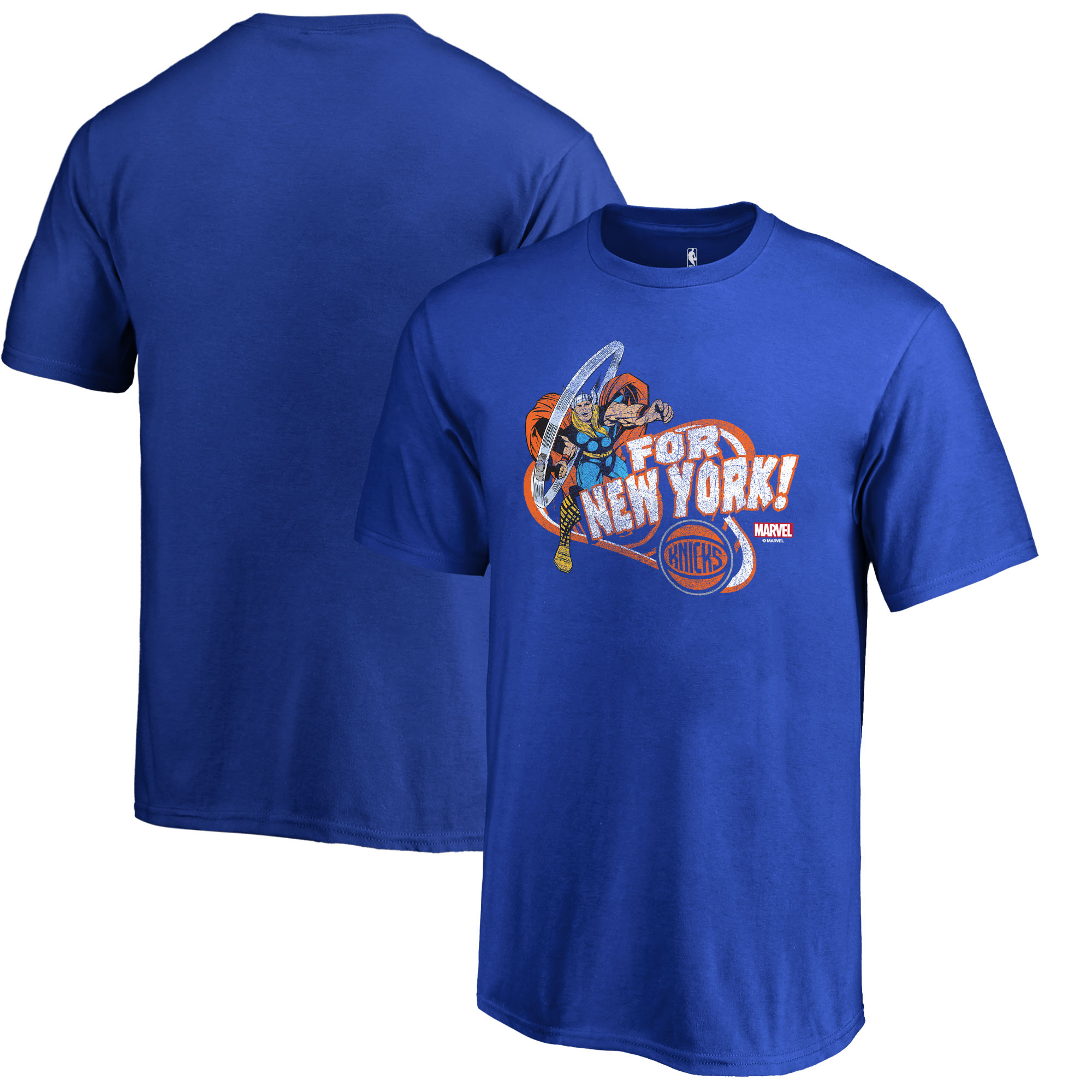 New York Knicks Fanatics Branded Youth Marvel Thor for Asgard T-Shirt - Blue