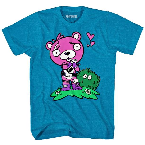 Epic Games Officially Licensed Fortnite Cuddle Team Leader Love Pink Bear Men S T Shirt Walmart Com Walmart Com