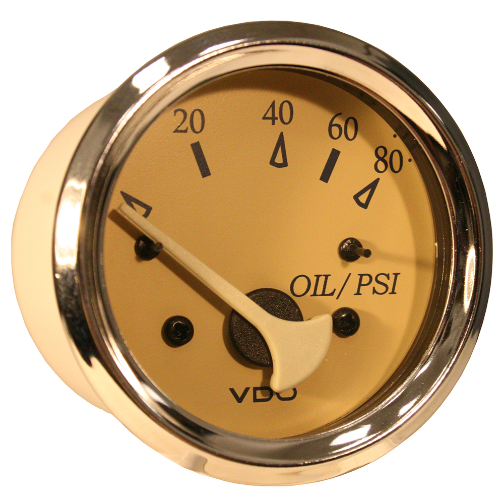 VDO ALLENTARE TEAK 80PSI OIL  PRESSURE GAUGE USE WITH MARINE