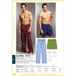 Kwik Sew Pattern Sleep Pants and Shorts, (S, M, L, XL, XXL)