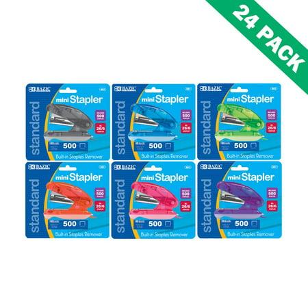 Stapler, Mini Colored 500 (26/6) Standard Staples For Stapler Paper - Pack Of 24