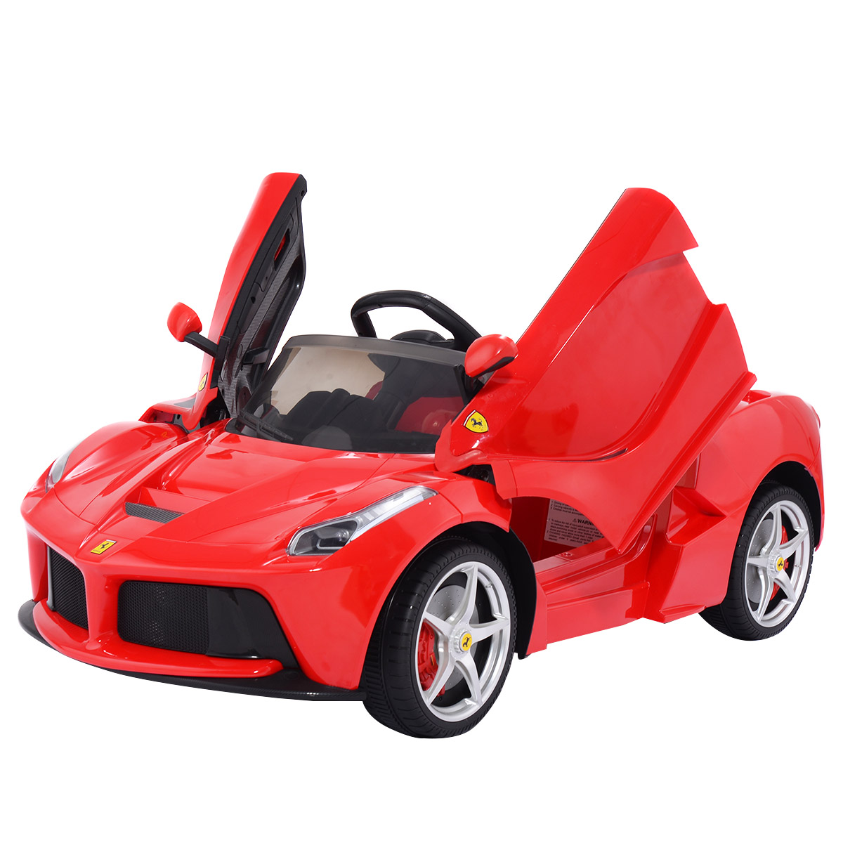 Costway 12V LaFerrari Kids Ride On Car Battery Powered RC Remote Control MP3 LED Lights by Costway