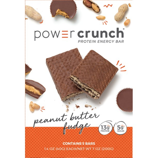 Powercrunch Original Protein Bar, 13g Protein, Peanut Butter Fudge, 7 Oz, 5 Ct