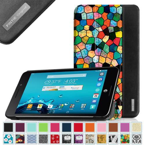 AT&T ASUS MeMo Pad 7 LTE GoPhone Prepaid Tablet Case - Fintie Slim Lightweight Smart Cover Auto Sleep / Wake, Mosaic