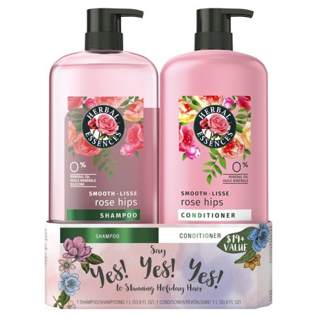($14 Value) Herbal Essences Smooth Collection Shampoo and Conditioner 2-Piece Set, 33.8 oz each