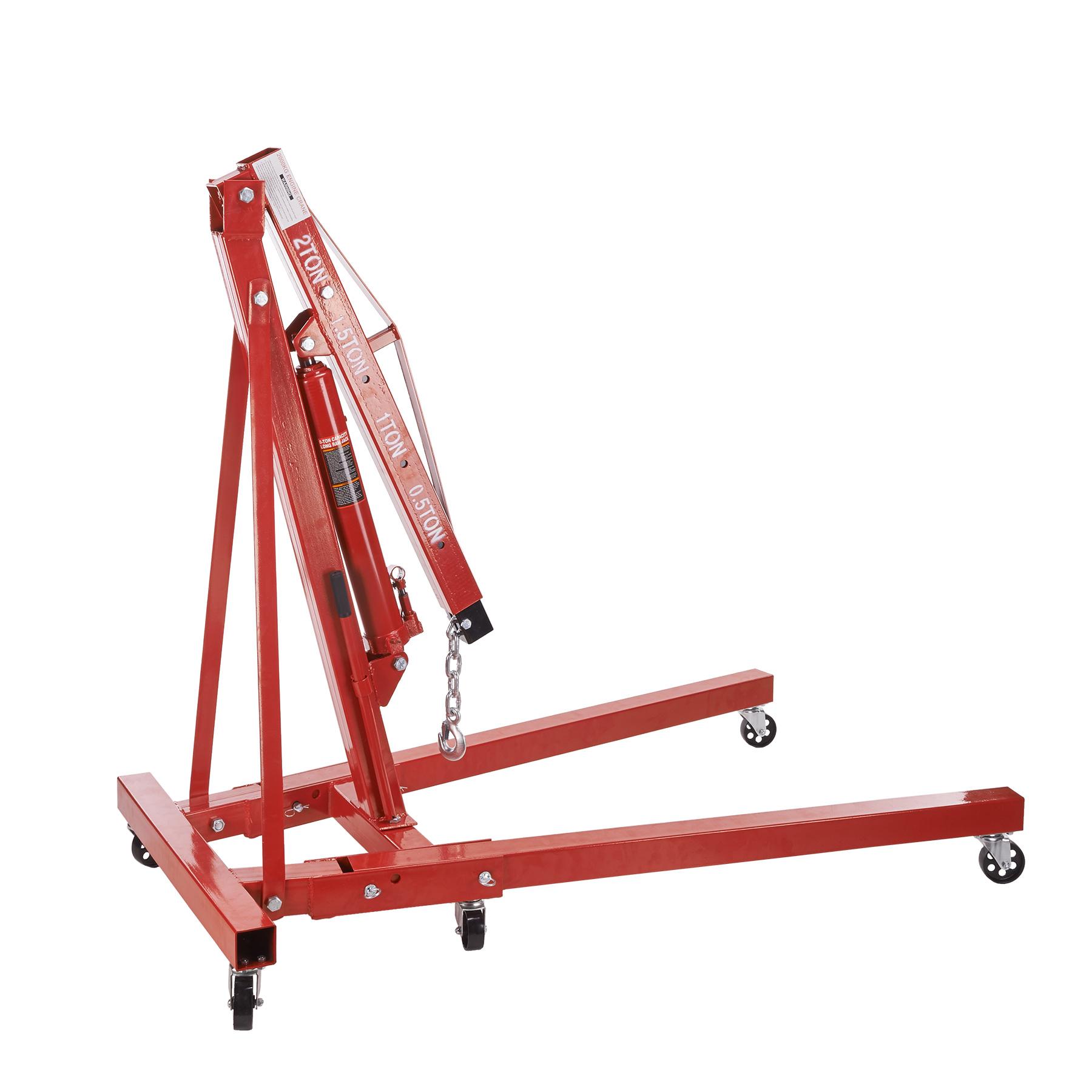 Premium Foldable Hydraulic Engine Hoist Jack Lift Crane H...