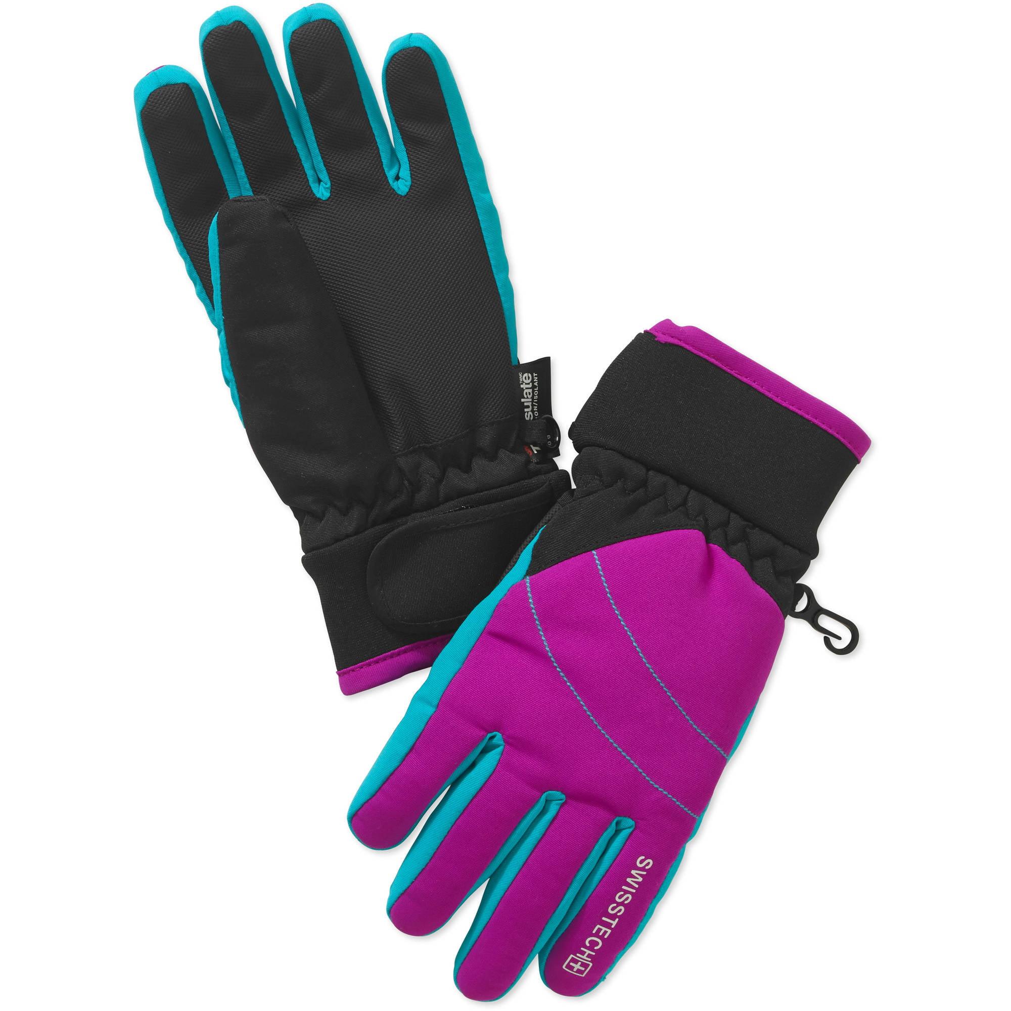 Swiss Tech Girls' Hybrid Ski Glove