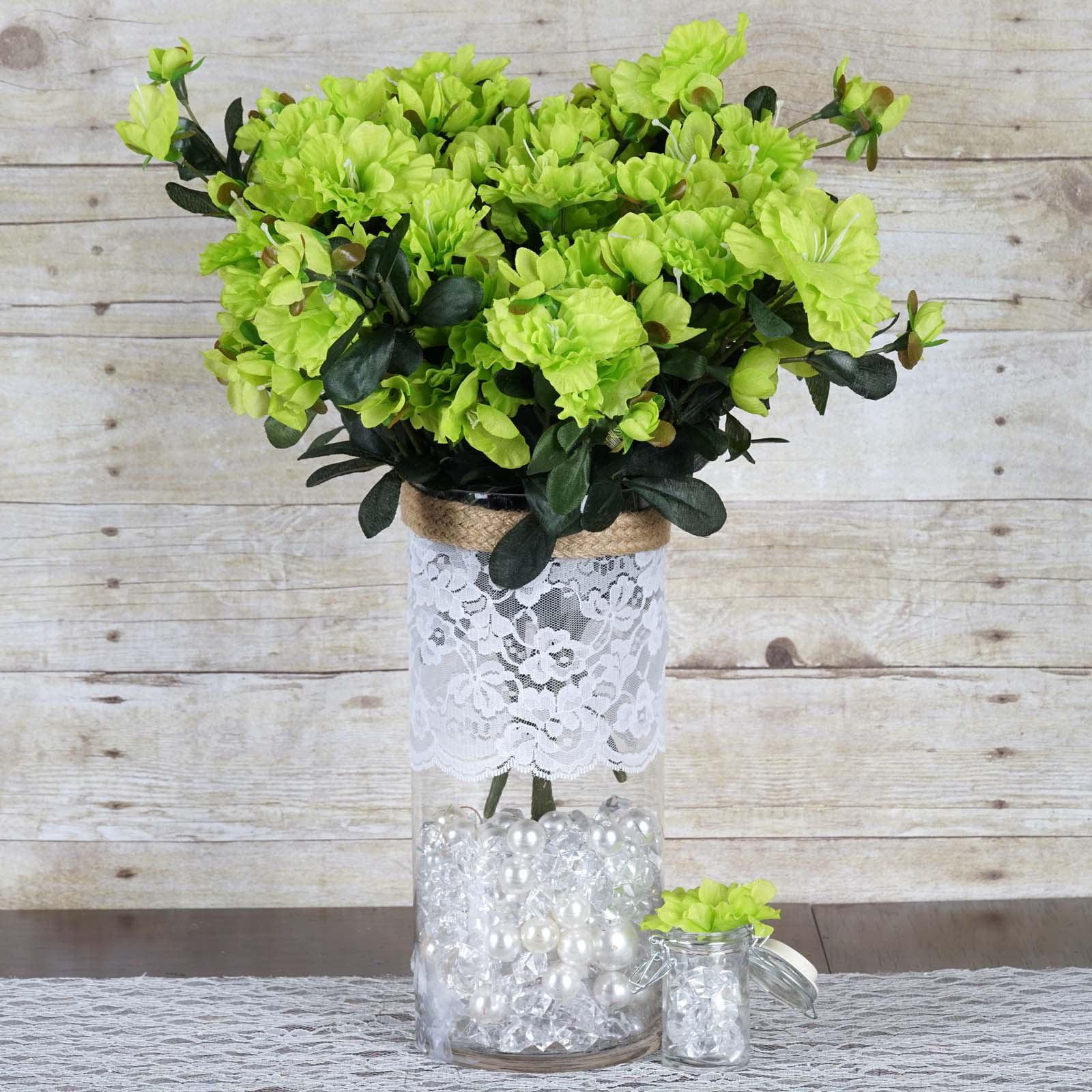 BalsaCircle 120 Silk Gerdenias Flowers for Wedding Party Centerpieces