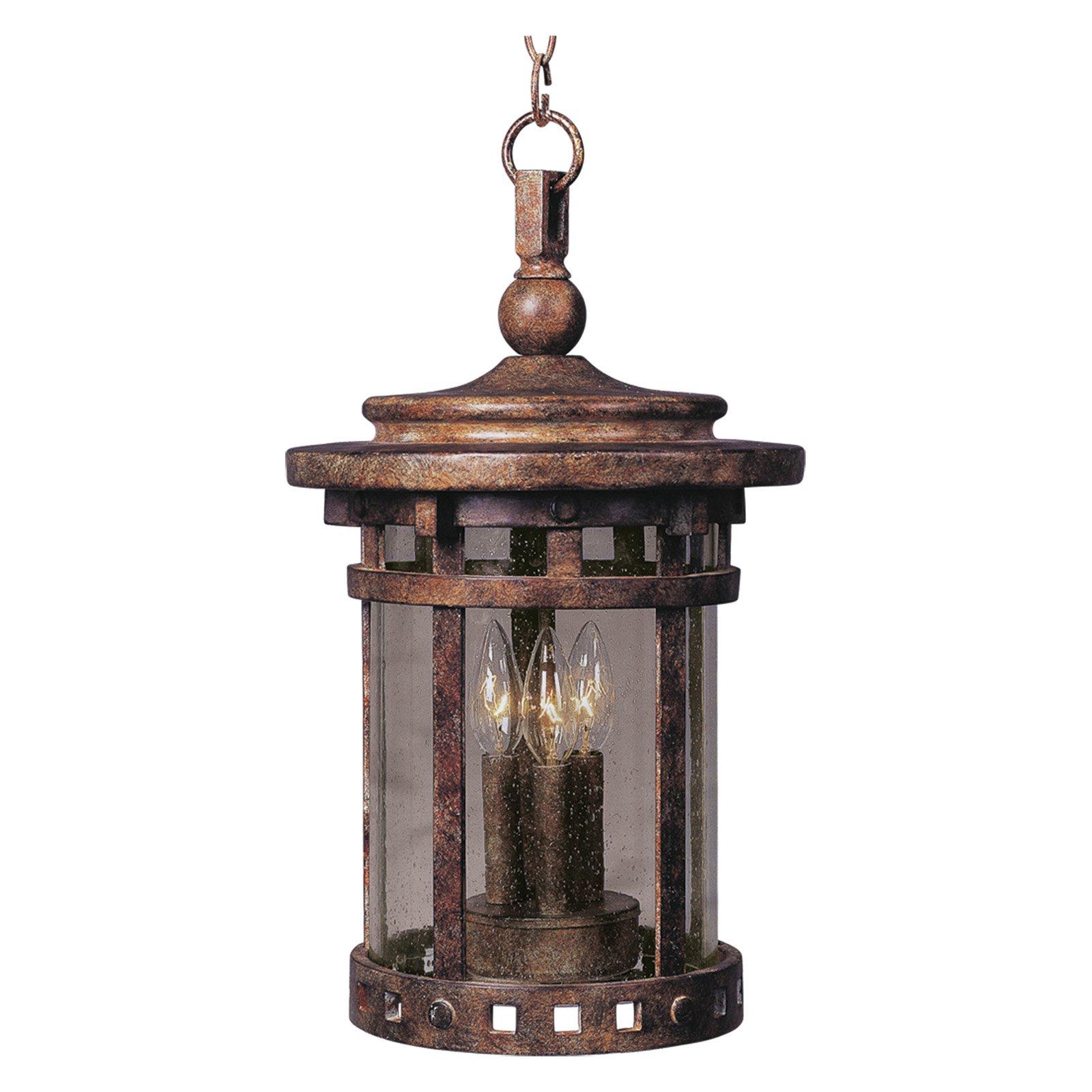 Maxim Santa Barbara DC Outdoor Hanging Lantern - 17.5H in. Sienna