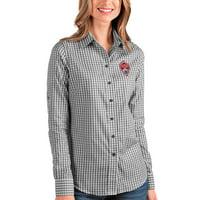 Colorado Rapids Antigua Women's Structure Button-Up Long Sleeve Shirt - Black/White