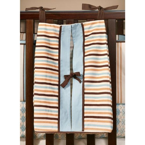 My Baby Sam Barefoot Dreamin Diaper Stacker, Blue Brown by My BaSam