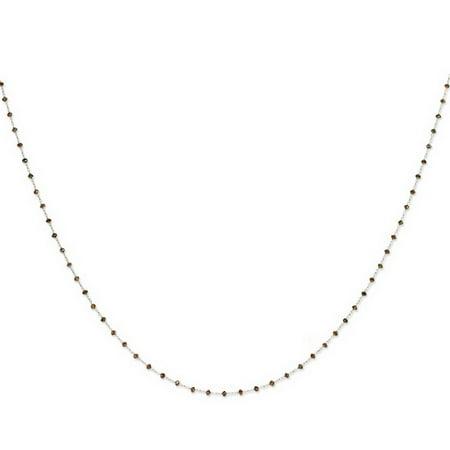 14k White Gold 16in Coffee Brown Diamond Briolette Necklace