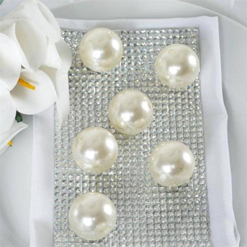 Efavormart 30MM BIG  Faux Pearl Beads Vase Filler Loose Faux Pearl Beads for Jewelry Making Supplies Or Vase Fillers - 35 PCS