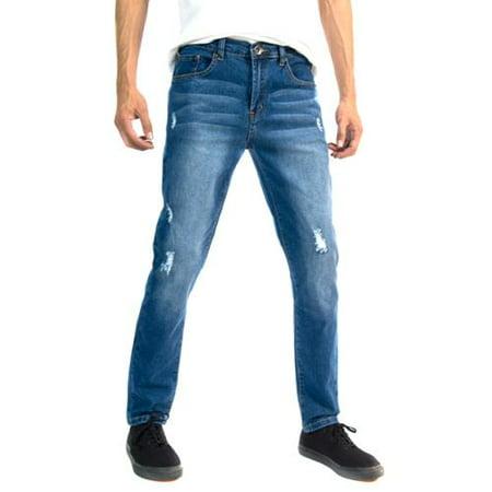 RNZ Premium Designer Fashion Mens Slim Fit Skinny Denim Jeans - Multiple Styles