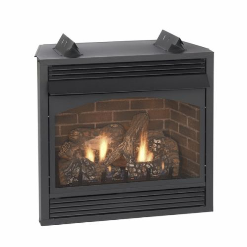 "Vail 36"" Thermostat Vent-Free Premium Fireplace with Blower - LP"