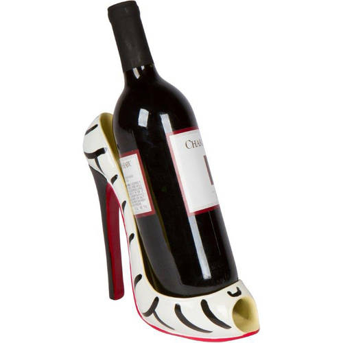 "8.5"" x 7""H High Heel Wine Bottle Holder, Stylish Conversation Starter Wine Rack... by Trademark Innovations"