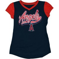 newest 496c7 046be Product Image MLB Los Angeles Angels Girls Short Sleeve Team Color Graphic  Tee