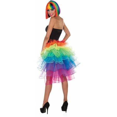 Women's  Rainbow Fantasy Costume Bustle Tu Tu Burlesque Tutu Skirt