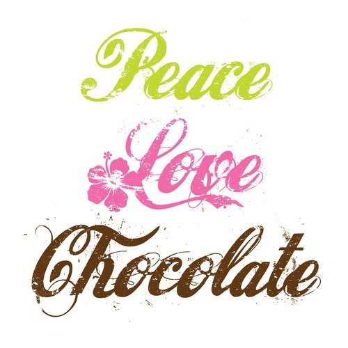Attitude Aprons by L.A. Imprints Peace Love Chocolate Apron
