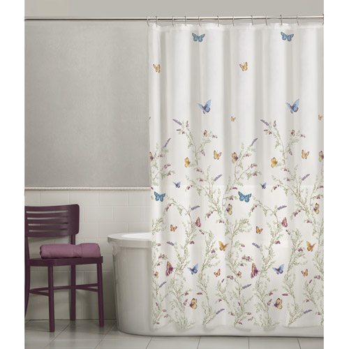 Maytex Garden Flight PEVA Vinyl Shower Curtain