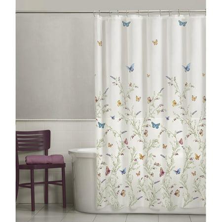 maytex garden flight peva vinyl shower curtain. Black Bedroom Furniture Sets. Home Design Ideas