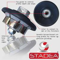 """Stadea Stone Granite Diamond Profile Wheel - 3/16"""" For Hand Profiler Marble Bevel E5 Edges Grinding"""
