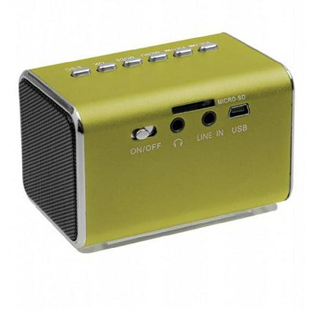 Jumbl Mini Hidden Spy Camera Radio Clock w/Infrared Night Vision - Green