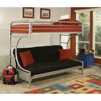 ACME Eclipse Bunk Bed (Twin XL/Futon), Silver Metal