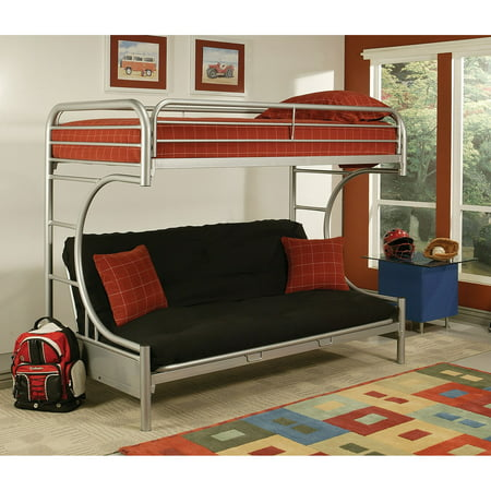 Enjoyable Acme Eclipse Bunk Bed Twin Xl Futon Silver Metal Onthecornerstone Fun Painted Chair Ideas Images Onthecornerstoneorg