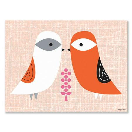 Oopsy Daisy - Canvas Wall Art Blandford Birdies - Spring 24x18 By Suzy Ultman