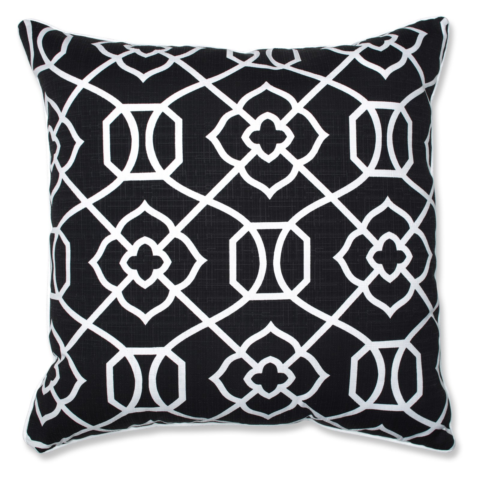 "Pillow Perfect Outdoor/Indoor Kirkland Black 25"" Floor Pillow"