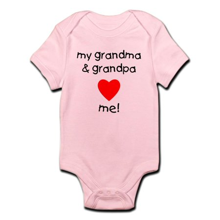 CafePress - My Grandma & Grandpa Love Me Infant Bodysuit - Baby Light Bodysuit