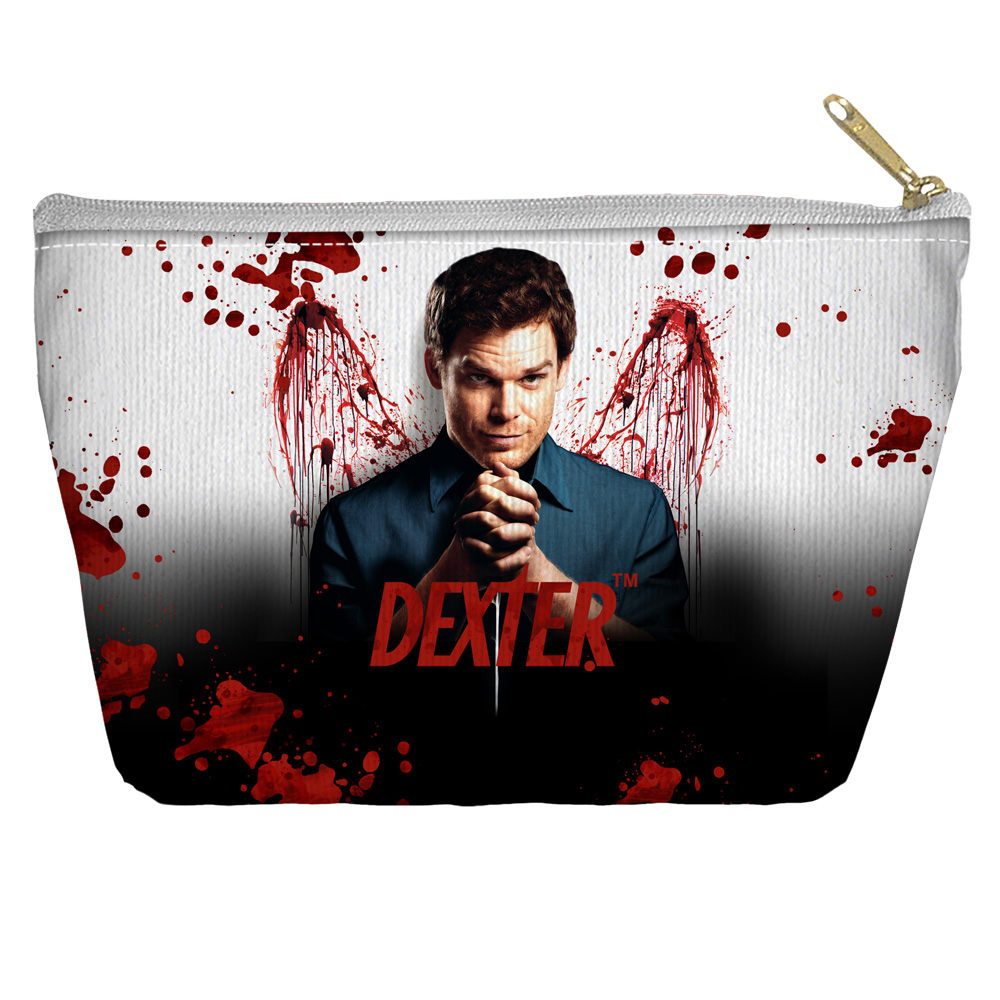 Dexter Blood Never Lies Accessory Pouch White 8.5X6