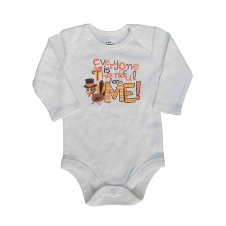 Infant Boys Thanksgiving Turkey Bodysuit Everyone is Thankful for Me Creeper