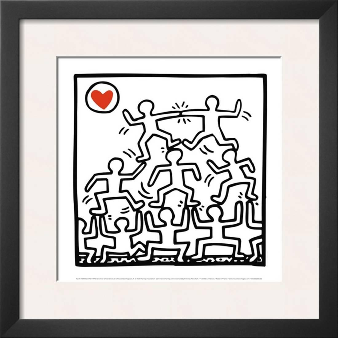 One Man Show (details) Framed Art Print Wall Art  By Keith Haring - 17.5x17.5
