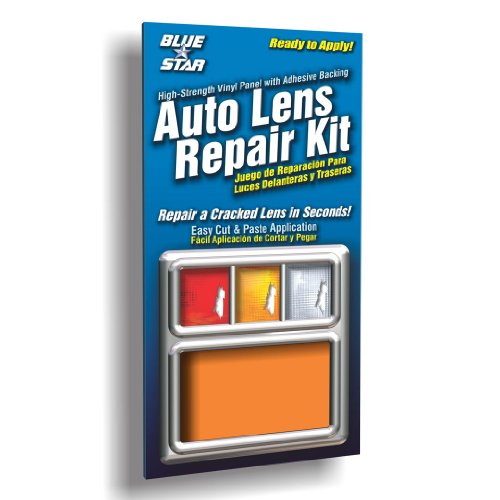Blue Star Auto Blinker Turn Signal or Tail Light Lens Repair Kit, Amber / Orange Color (SMOOTH)