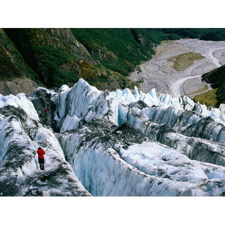 Walkers on Franz Josef Glacier, Franz Josef Glacier, New Zealand Print Wall Art By Glenn Van Der Knijff ()