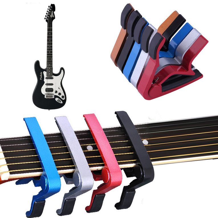 Portable Guitar Jaw Capo Clamp for Electric and Acoustic Tuba Guitar Trigger Release