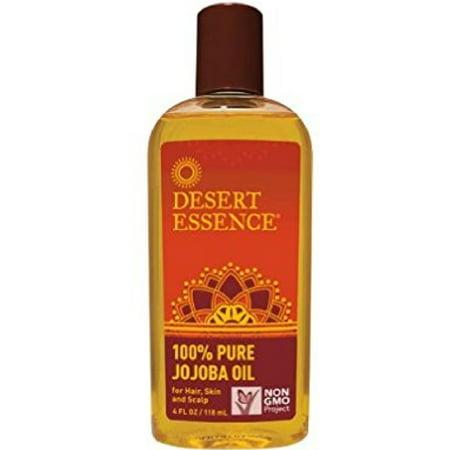 Desert Essence 100% Pure Jojoba Oil, 4 Ounce, Bottle