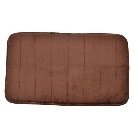 Room Coral Fleece Slip Resistant Mat Pad Rug Doormat Coffee Color 60 x (Eco Fleece Mat)