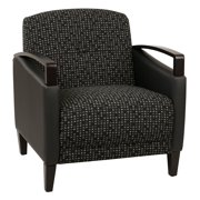 Main Street 2-Tone  Fabric Chair-Color:Onyx & Black