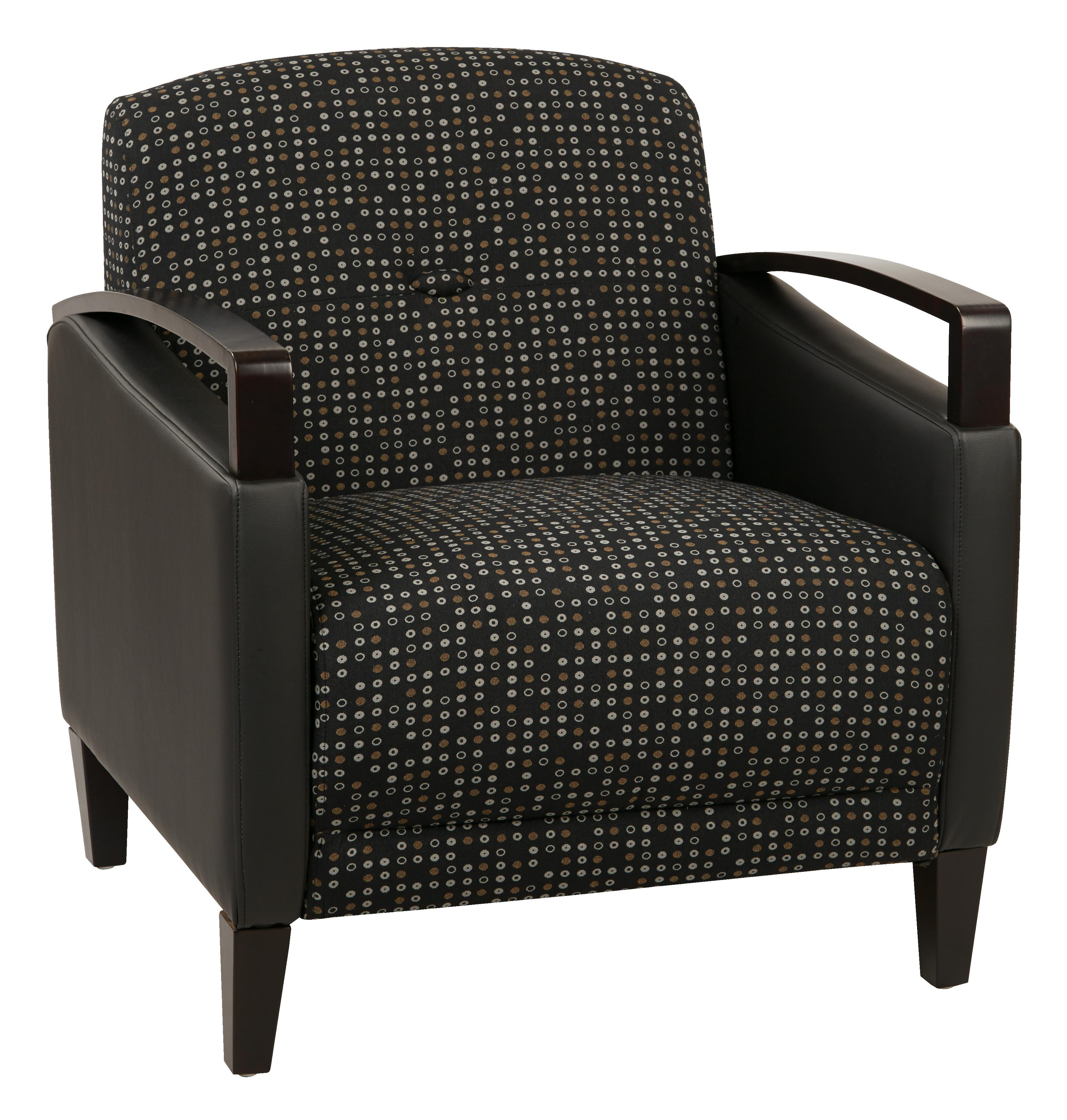 Main Street 2-Tone  Fabric Chair-Color:Onyx & Black