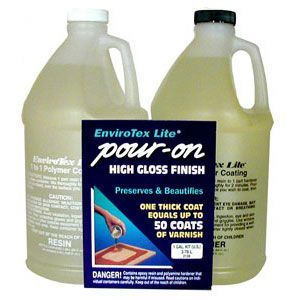 Envirotex Lite Pour-On High Gloss Epoxy for Sealing Bottlecaps 1 Gallon